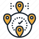 destination, location, map, pin, travel icon