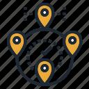 destination, location, map, pin, travel