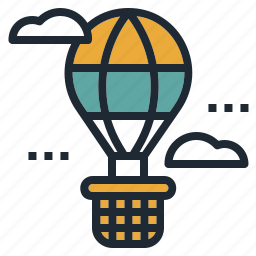 air, balloon, fly, hot, transportation, travel icon