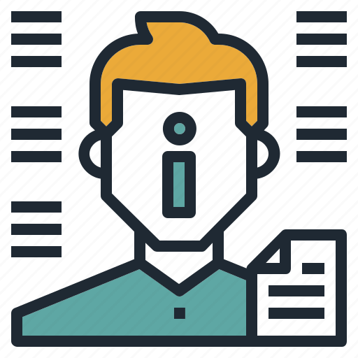 avatar, data, document, information, man icon