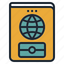 card, id, identification, passport, travel icon
