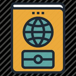 card, id, identification, passport, travel icon