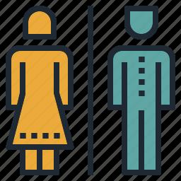 bathroom, gentleman, lady, men, restroom, toilet, women icon