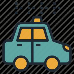 automobile, car, sedan, service, taxi, transportation, travel icon