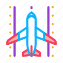 airplane, airport, concept, landing, linear, road, runway