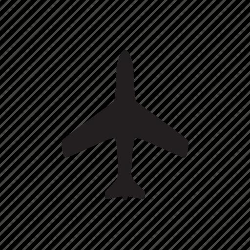 air, airplane, airport, jet, plane, sky icon