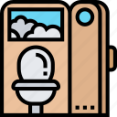 toilet, flush, room, sanitary, service