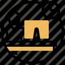 counter, customer, lobby, reception, service icon