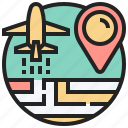 boarding, checkpoint, departure, navigation, route icon