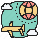 airline, aviation, global, international, transport icon