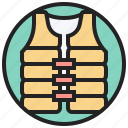 jacket, life, lifeguard, safety, vest icon