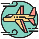 airplane, danger, flight, gale, turbulence icon