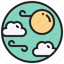 climate, cloud, forecast, sunny, weather icon