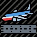 ariplane, landing, transportation, travel