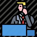 avatar, customer, man, service, support icon