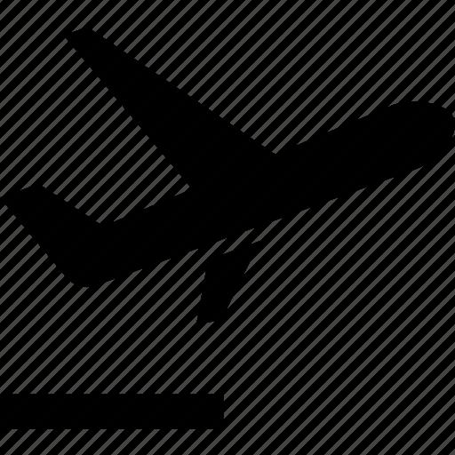 airplane, departing, departure, jet, leaving, plane, taking off icon