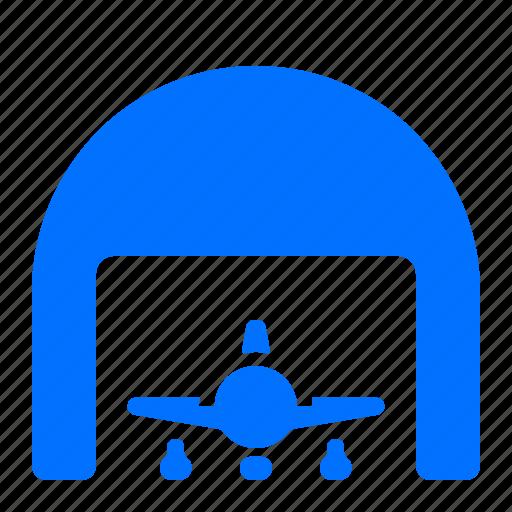 airplane, building, storage, warehouse icon