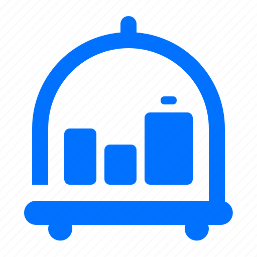 baggage, luggage, suitcase, trolley icon