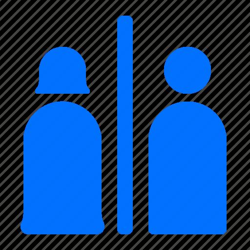 Bathrooms, facilities, man, woman icon - Download on Iconfinder