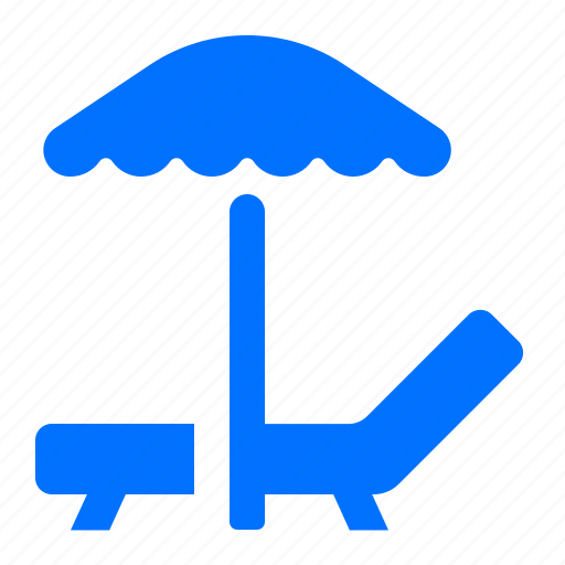 beach, lounge, parasol, vacation icon