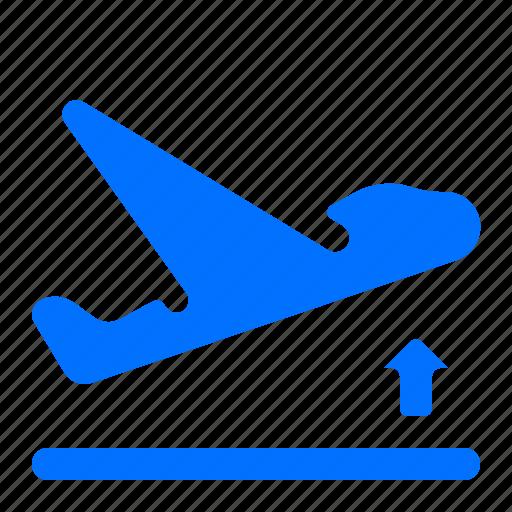 Airplane, airport, departure, flight icon - Download on Iconfinder