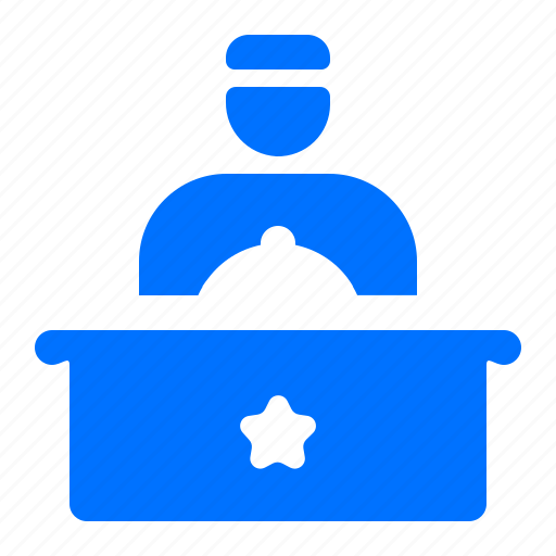 bell boy, desk, front, reception icon