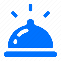 bell, desk, front, reception icon
