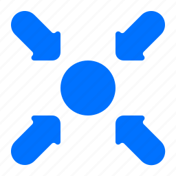 arrows, meeting, point, safety icon