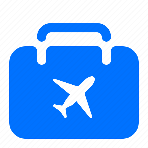baggage, luggage, plane, suitcase icon