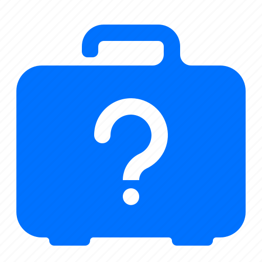 case, information, luggage, question icon