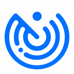 airport, flight, radar, scanner icon
