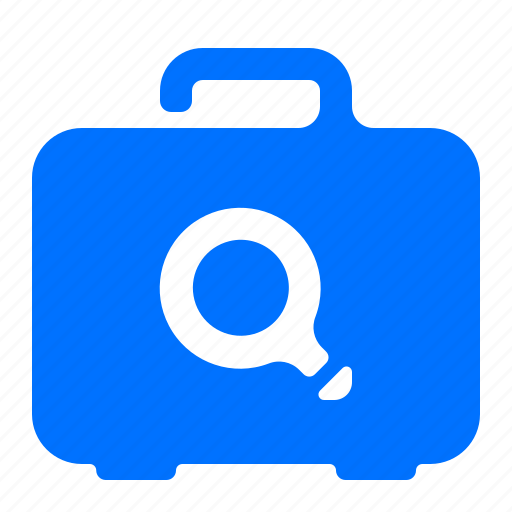 case, find, luggage, search icon