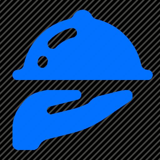 cloche, meal, room, service icon