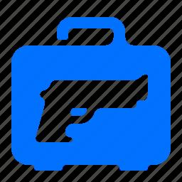 case, gun, luggage, weapon icon