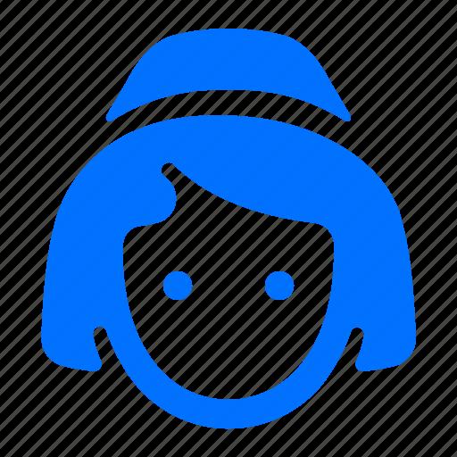 avatar, stewardess, user, woman icon
