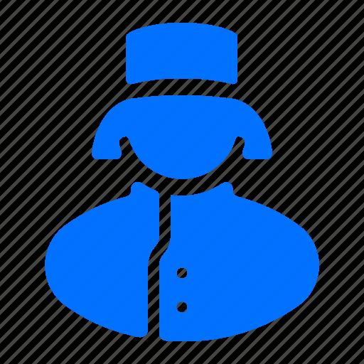 avatar, chef, service, woman icon