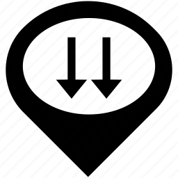 arrow, arrows, direction, down, navigation icon