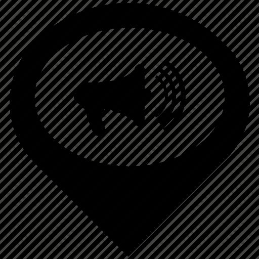 audio, media, music, on, pointer, sound, volume icon