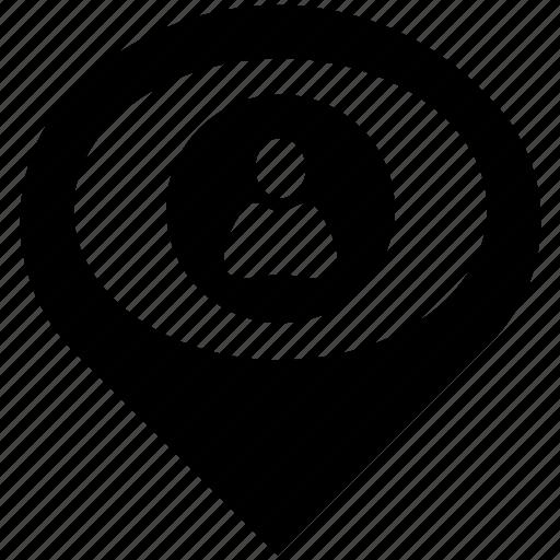 avatar, geo, login, man, place, pointer, user icon