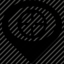 aim, bullseye, goal, sight, target icon