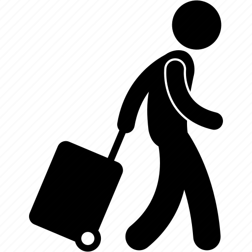 airport, arrival, departure, foreigner, passenger, tourist, visitor icon