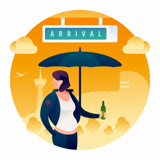 Airport, arrival, woman icon - Download on Iconfinder