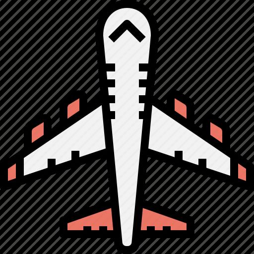 aeroplane, airplane, flight, plane, transportation icon