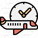 aeroplane, airplane, on, performance, time, transportation icon