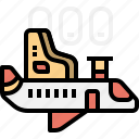 aeroplane, airplane, exclusive, first, private, transportation, vip icon