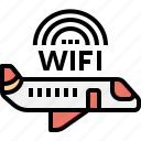 aeroplane, airplane, exclusive, private, transportation, vip, wifi icon