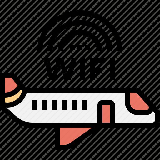 aeroplane, airplane, exclusive, private, transportation, vip, wifi icon