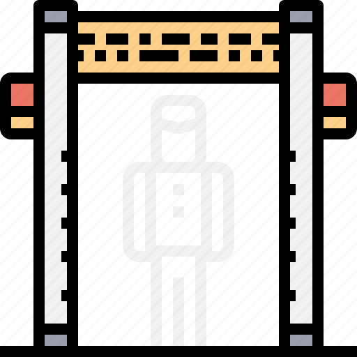 airport, body, check, point, scanner, security icon