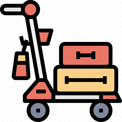 airport, bag, baggage, carry, trolley icon