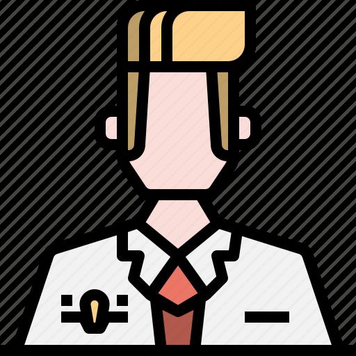 man, steward, uniform icon